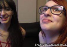 novia pelirroja se folla gratis a una lesbiana y a un macho